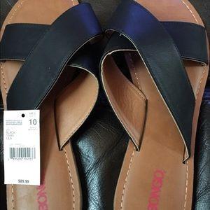 Bongo Black Leather slides